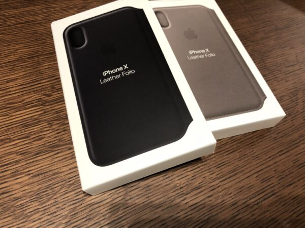 Box of iPhone X Leather Case