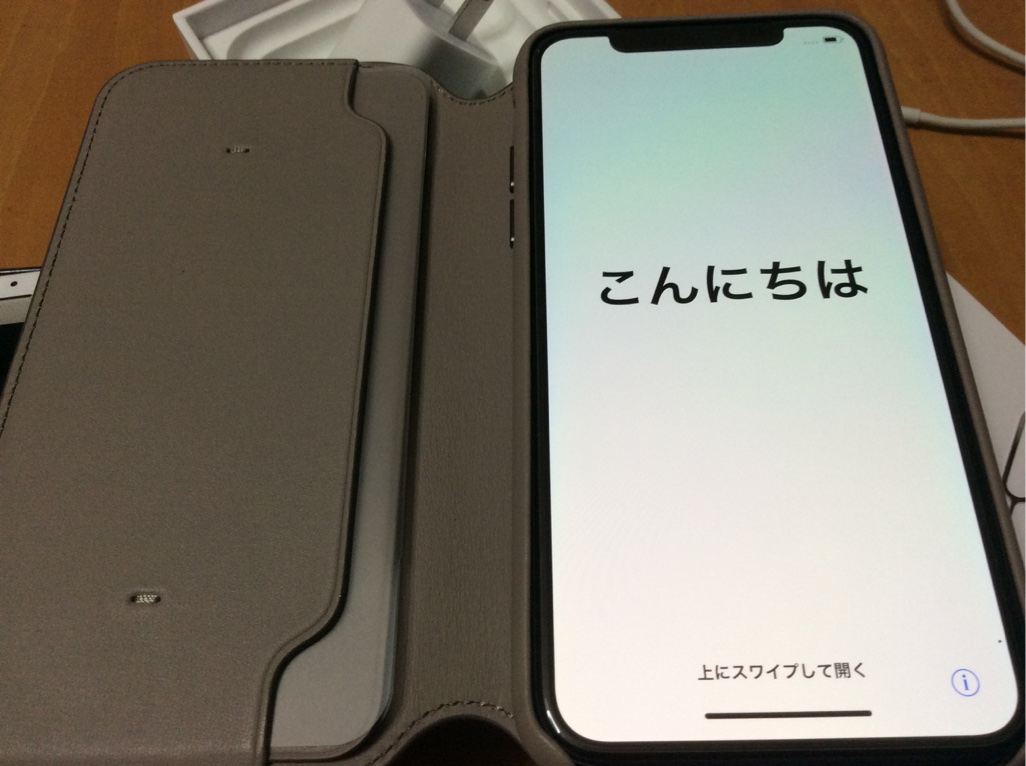 IPhone X  Leather Case Taupe1 ak up com
