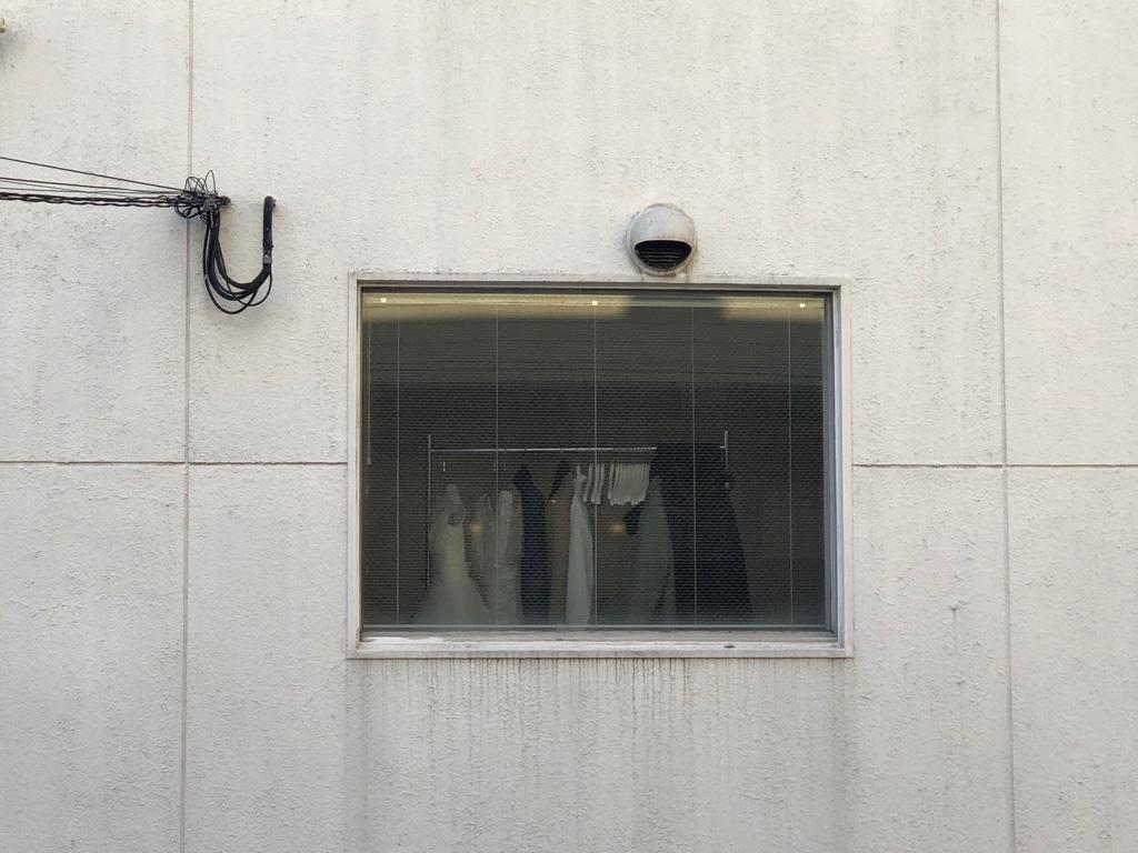 窓とドレス