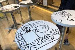 スヌーピーテーブル